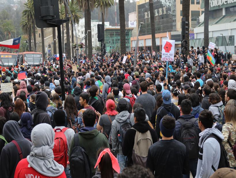 Viña del Mar y Quilpué: el día de ayer se realizaron múltiples protestas