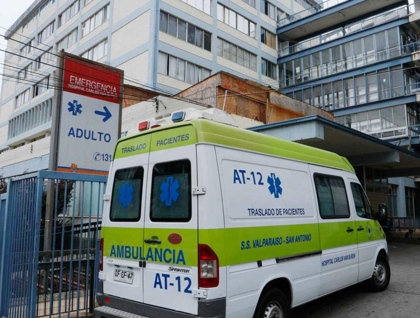 Valparaíso: Vigilante recibió un disparo en una pierna desde el interior de un vehículo